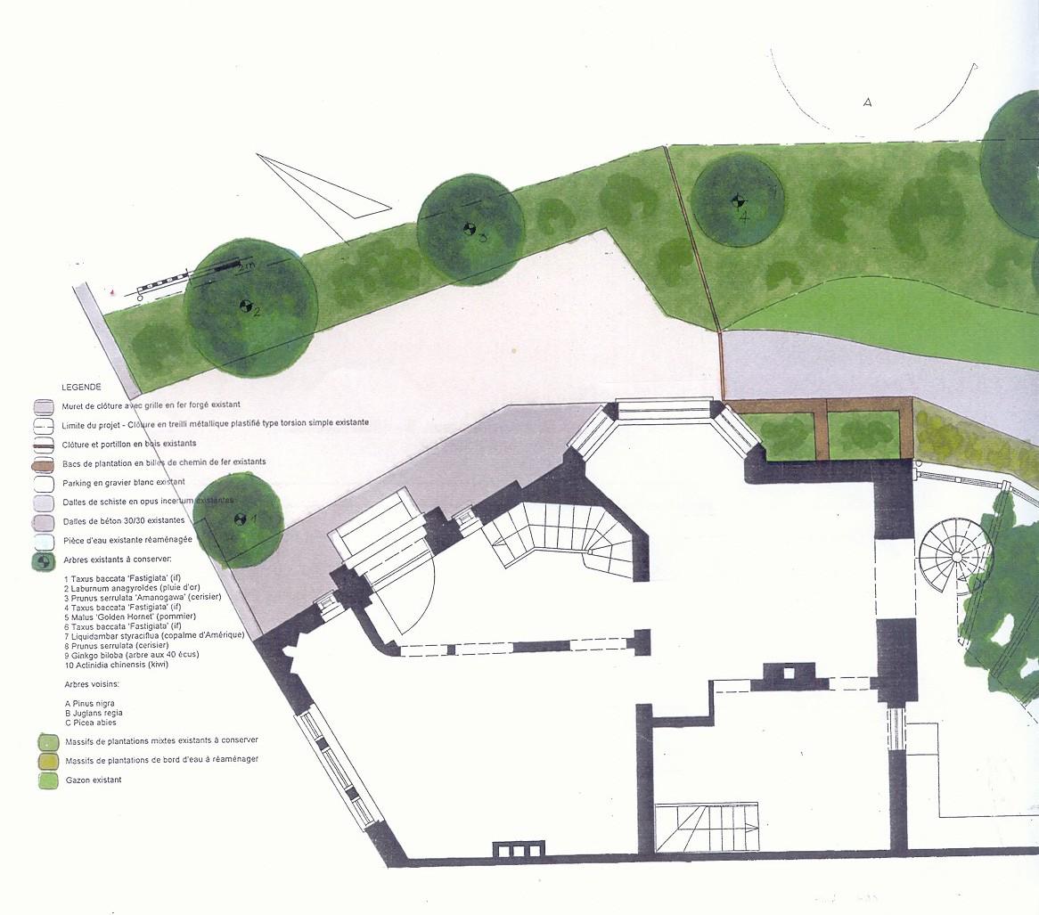 Pin dessin jardin on pinterest for Plan jardin